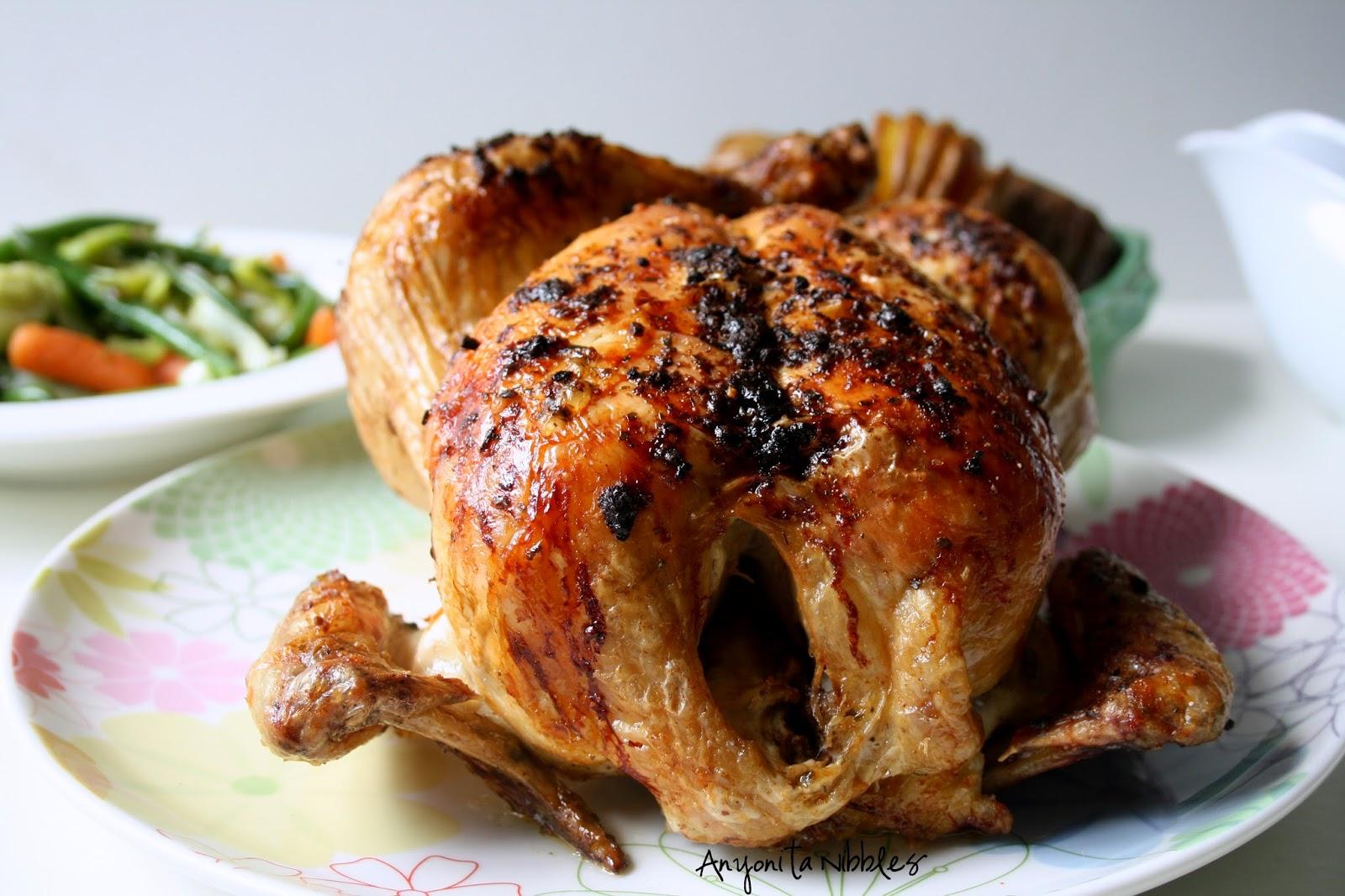 Roast chicken ready for carving on Mother's Day | Anyonita Nibbles