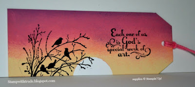 stampwithtrude.blogspot.com Stampin' Up! bookmark, Serene Silhouettes, Trust God stamp sets