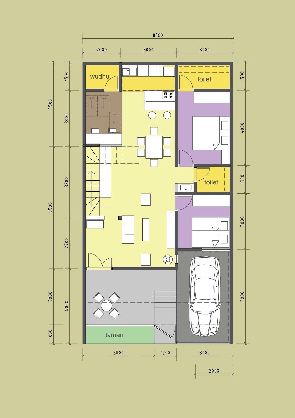 Denah Rumah Minimalis Type 36/90 ~ Gambar Rumah Idaman