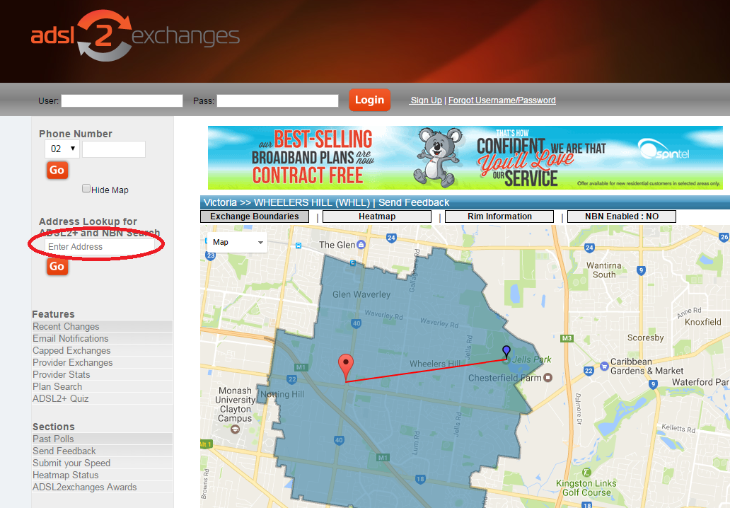 Loza's Blog: Where Is My Node / NBN And ADSL2 Exchange Finder
