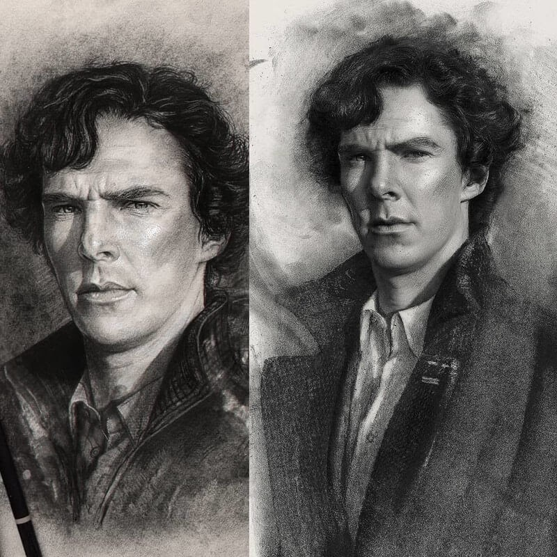 05-Benedict-Cumberbatch-John-Fenerov-Charcoal-and-Graphite-Portraits-on-Paper-www-designstack-co