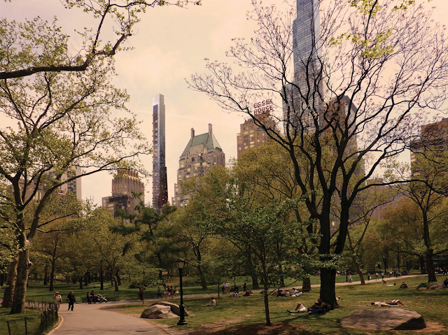 Photo of new New York tower as seen from the Central Park