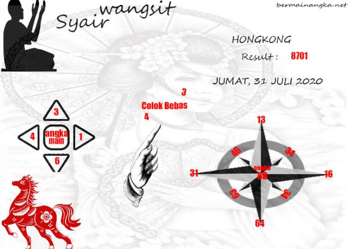 Kode syair Hongkong Jumat 31 Juli 2020 168
