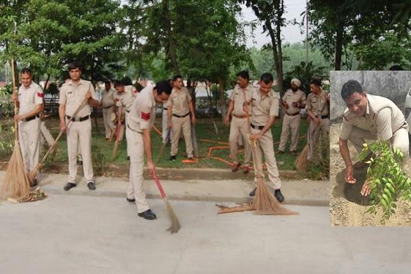 हरियाणा पुलिस ने थाने-चौकियों में चलाया सफाई अभियान