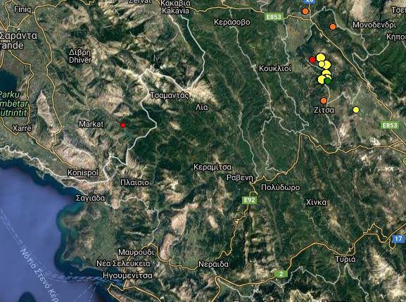 Αλλεπάλληλες σεισμικές δονήσεις τις τελευταίες ώρες