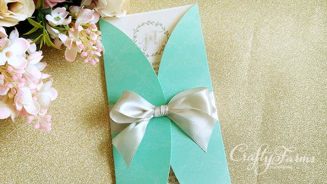 Mint Garden Wedding Invitation Card