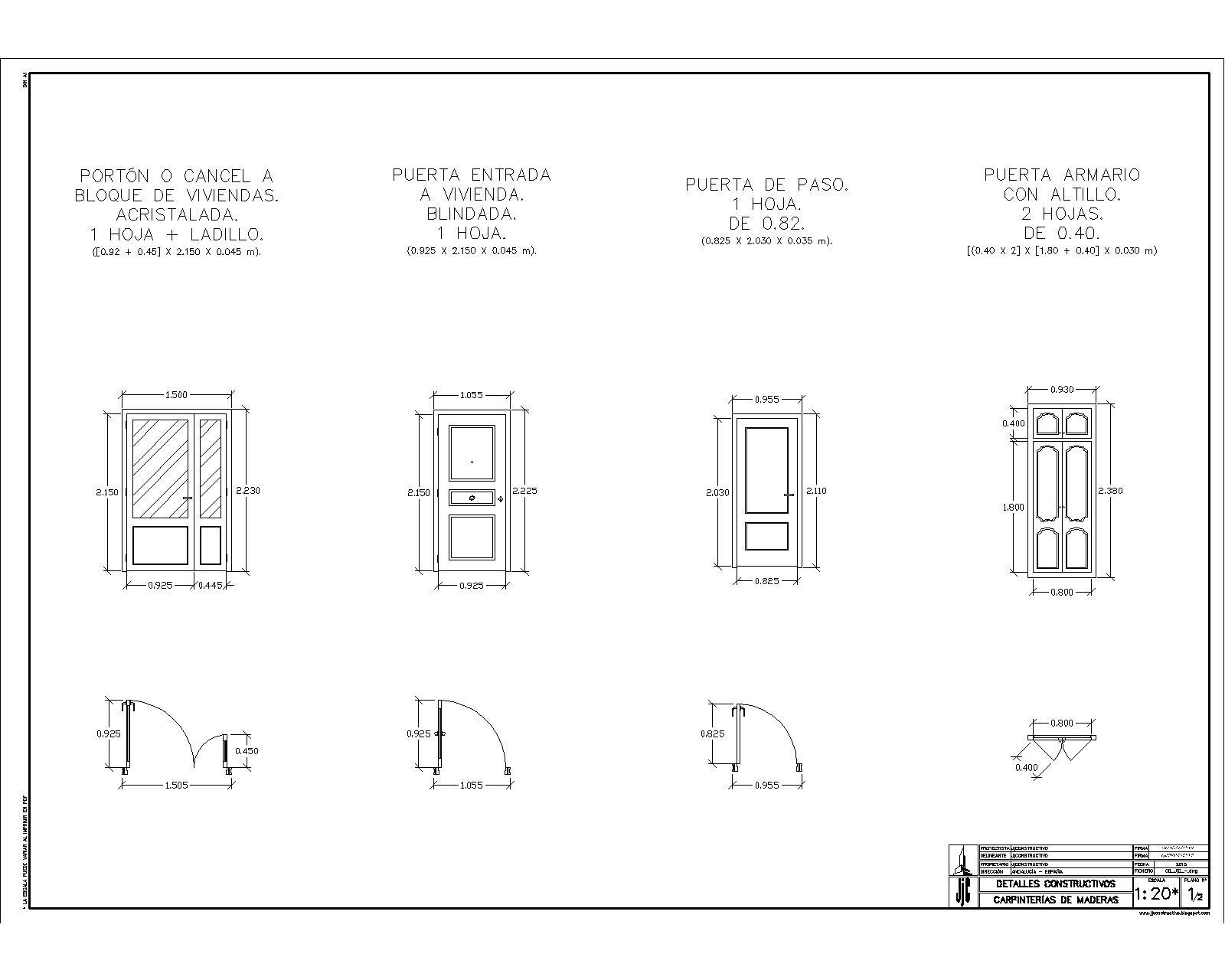 Jjconstructivo carpinter a de madera puertas for Carpinteria de puertas de madera