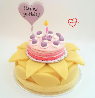 Admirable Ombre Birthday Cake Macaron On Lychee Rose Sponge Pudding Cake Personalised Birthday Cards Paralily Jamesorg