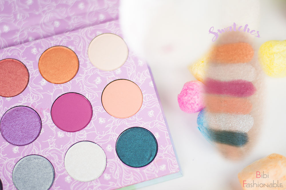 ColourPop My little Pony Pressed Powder Shadow Palette Swatches