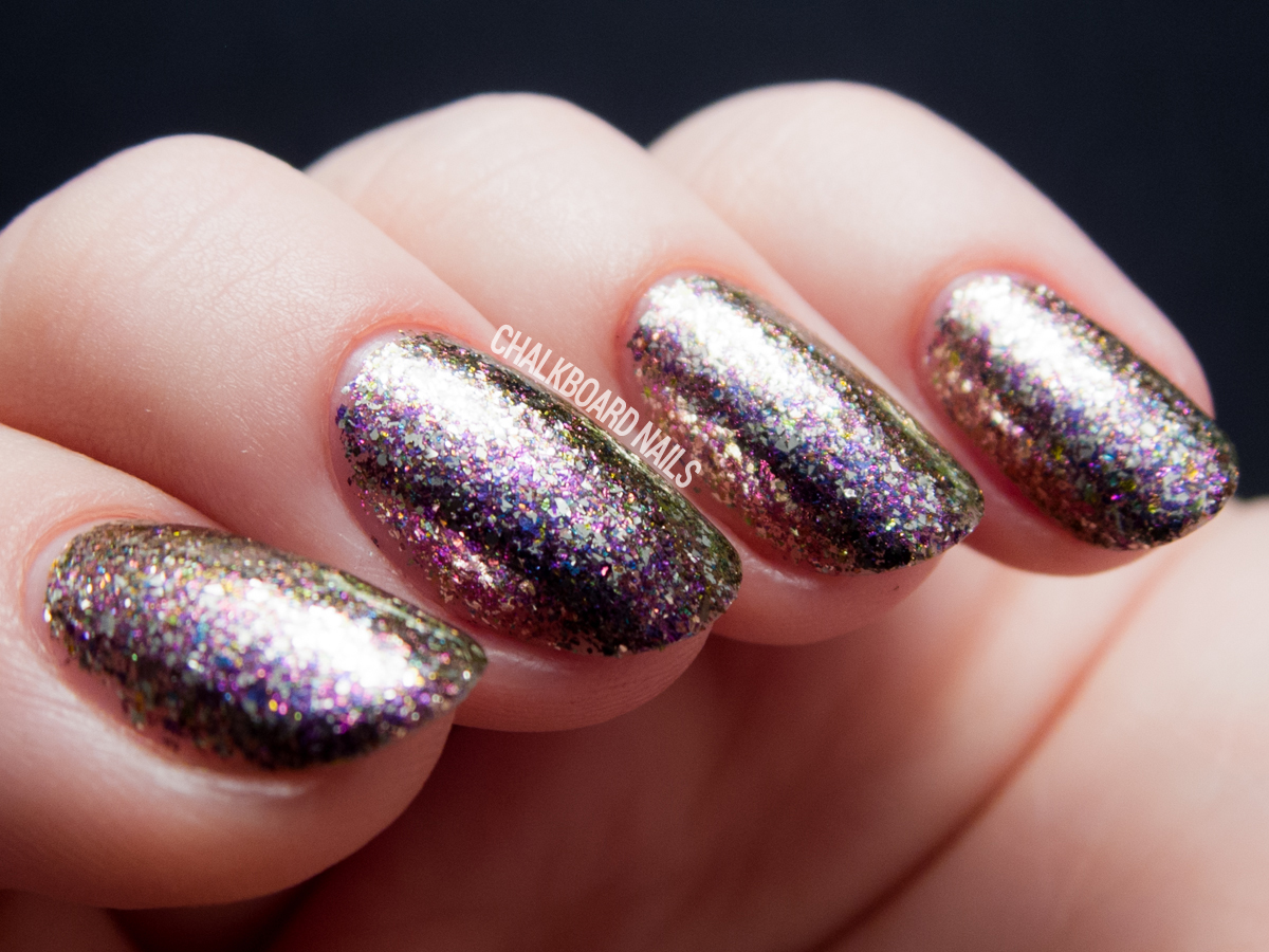Chloe & Bella - Dragon's Breath via @chalkboardnails