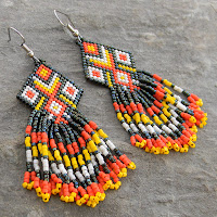 купить яркие серьги украшения ручной работы украина россия