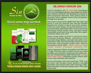 Harga Jual Rokok Herbal Sin