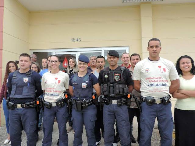 Guarda Municipal de Jundiaí faz campanha de doação de sangue