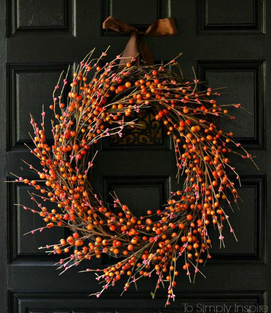 Easy Fall Door Decorations: Harvest Door Wreath Ideas