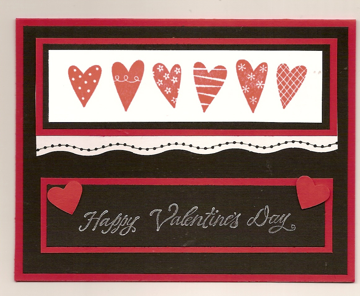 handmade stampin' up valentines day cards  let's celebrate