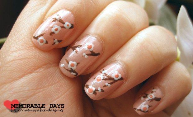 Japanese Cherry Blossom Nail Art Tutorial | Memorable Days ...