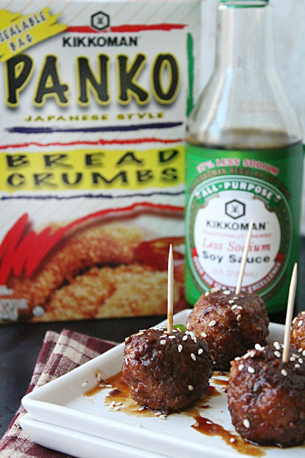 Slow Cooker Asian Sesame Turkey Meatballs from Table for Seven #SeasonYourHolidays #CollectiveBias #Ad