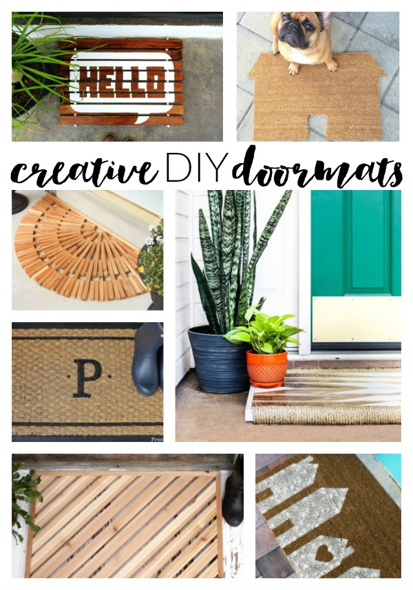 Welcome guests into your home with these creative and inviting DIY doormats.