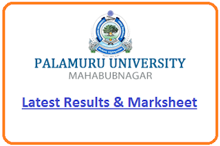Palamuru University Degree Results 2020