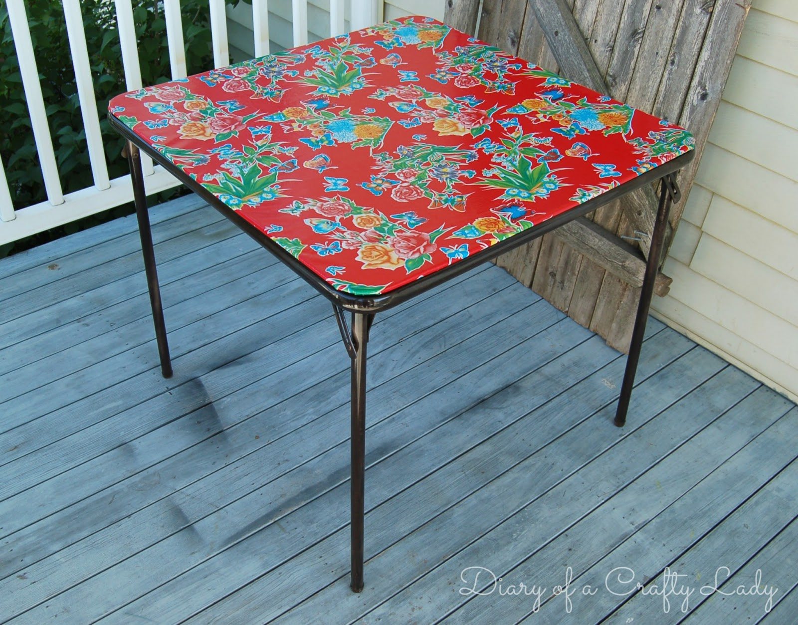 Diy Folding Dining Table Diary Of A Crafty Lady Card Table Rehab
