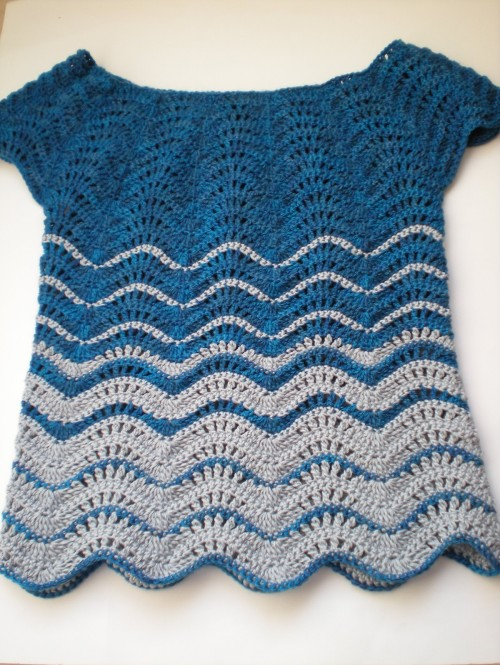Feather & Fan Top - Free Pattern