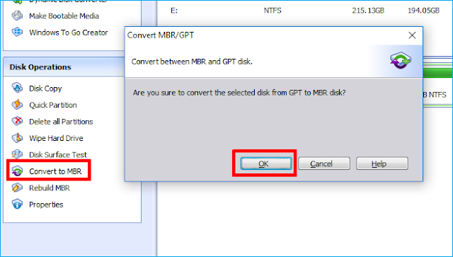 Cara Merubah Partition HDD MBR ke GBT & GPT ke MBR