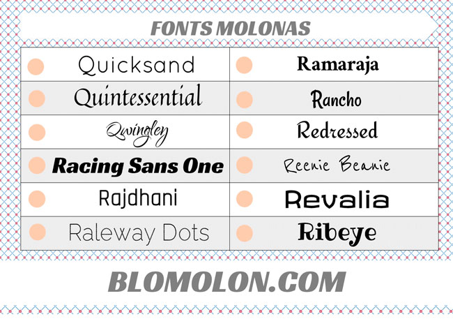 fonts molonas 13