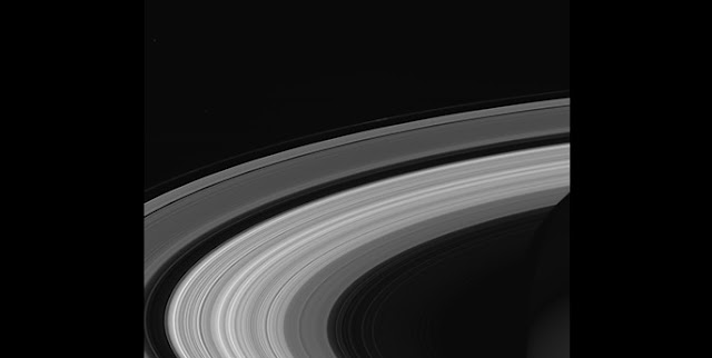 This image of Saturn's rings was taken by NASA's Cassini spacecraft on Sept. 13, 2017. It is among the last images Cassini sent back to Earth. (Credit: NASA/JPL-Caltech/Space Science Institute)