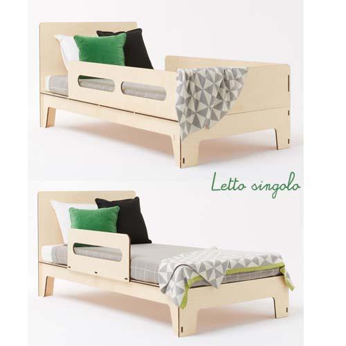 Piccoli nordici arredamento facile - Letto singolo per bambini ...