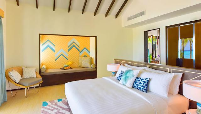 Amari Havodda Maldives 海灘泳池別墅-寢室