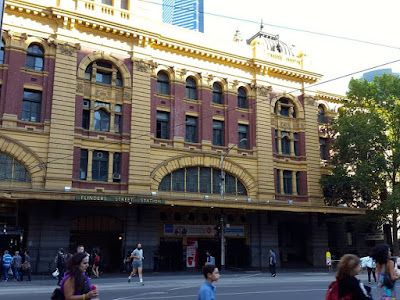 Flinders Street Train Station at Melbourne Australia