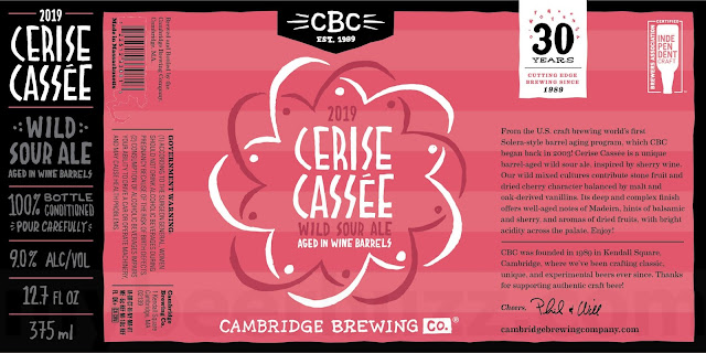 Cambridge Brewing Adding 2019 Cerise Cassée