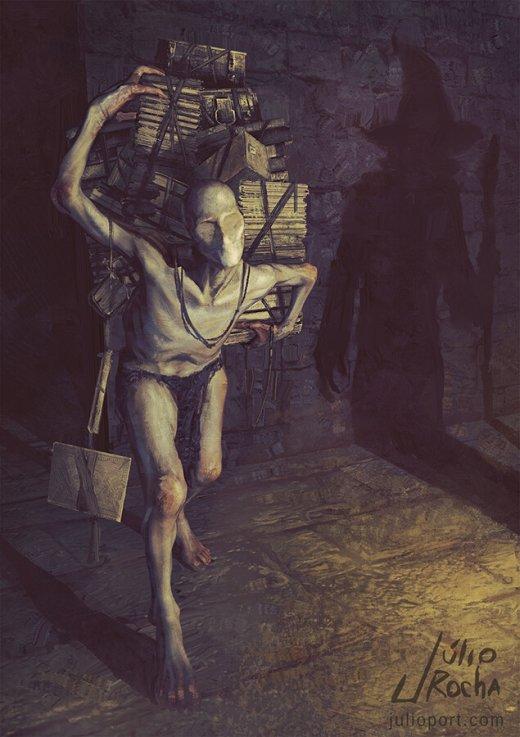 Júlio Rocha artstation arte ilustrações fantasia terror vintage tradicional