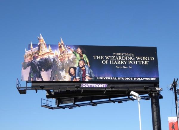 Christmas Wizarding World Harry Potter 2017 billboard