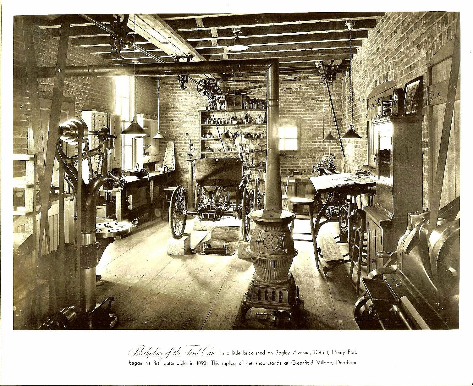 Lugar de nacimiento del coche Ford en Bagley Avenue, Detroit, Michigan