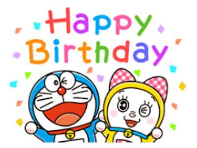 Gambar Kartu Ulang Tahun Doraemon Lucu Ucapan Happy Birthday Dorami