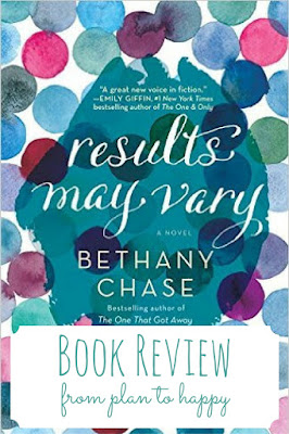 It would be easy for a novel involving the aftermath of infidelity to turn into a navel gazing, depressing, wallowing sort of story, but that doesn't happen with Results May Vary by Bethany Chase.