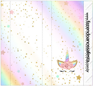 image regarding Free Printable Unicorn Template identified as Unicorn and Rainbow: Absolutely free Printable Sweet Bar Labels. - Oh