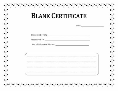 Printable Blank Certificate Templates HUyjg