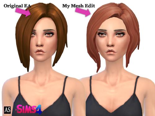 My Sims 4 Blog Alexandrasimblr Curved Bob Hair For Females