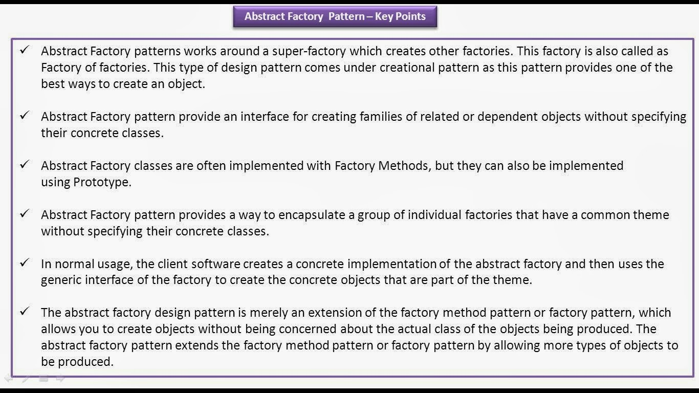Abstract Factory Design Pattern Interesting Design Ideas
