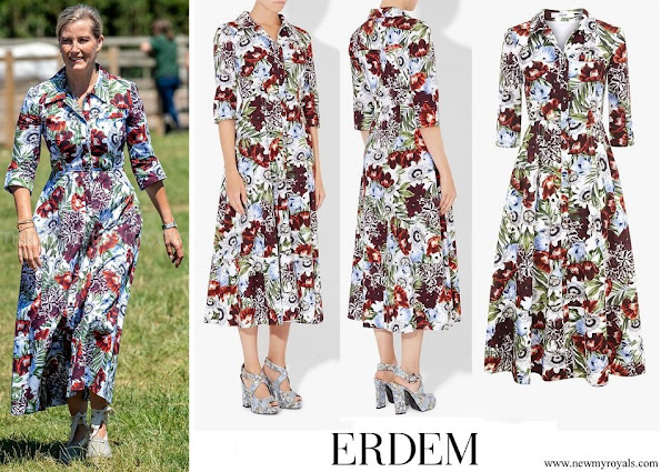 Countess Sophie wore Erdem Kasia floral printed silk dress