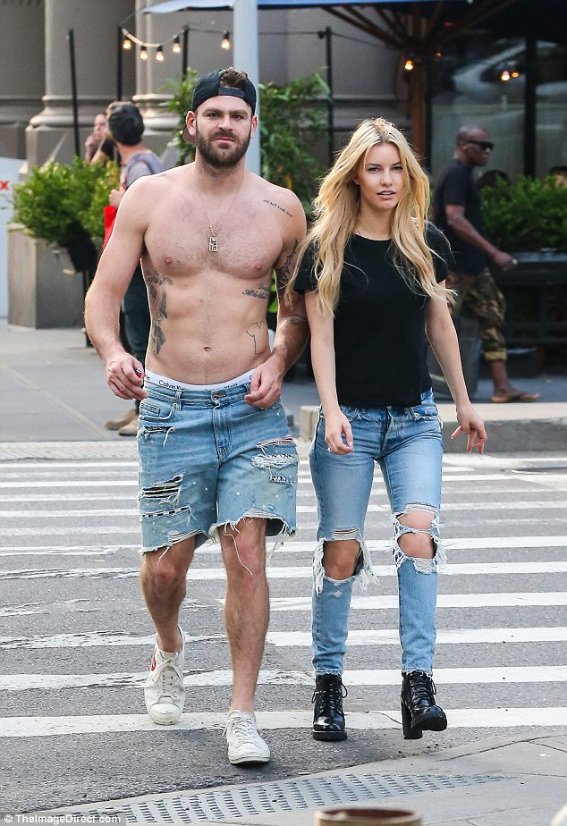 shirtless chainsmokers alex pack on the pda with new girlfriend