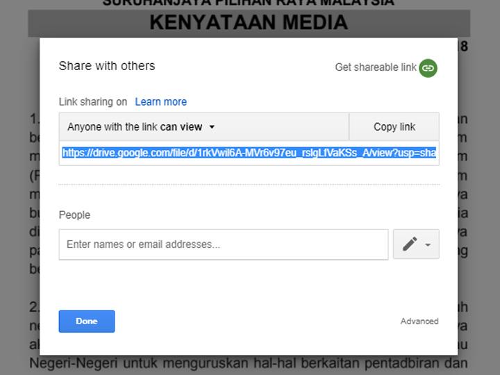 Tatacara letak fail dokumen ke Google Drive