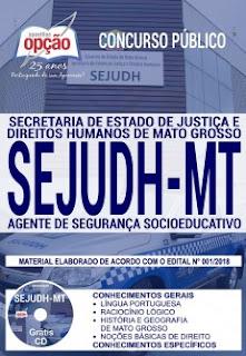 baixar Apostila Concurso SEJUDH MT 2018 PDF