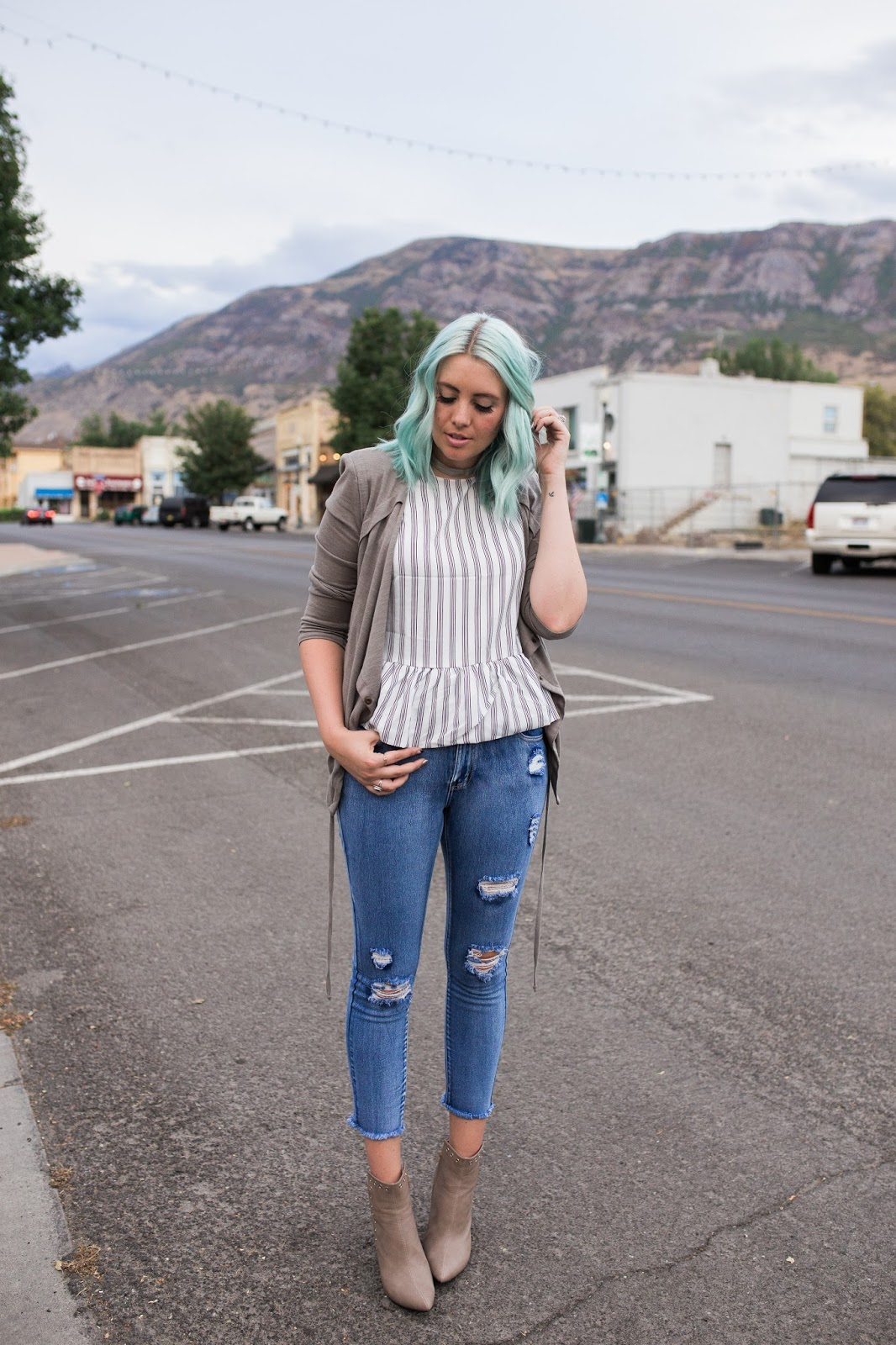 Peplum, Modest Outfit, Utah Fashion Blogger