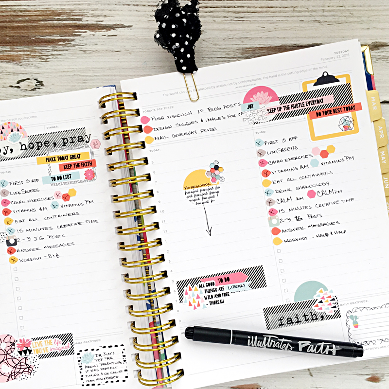 daily planning using The Reset Girl Free Spirit planner stickers in a The Day Designer Flagship Agenda | a much needed update on Heather Greenwood Designs and what Heather's been up to and plans for 2016 blogging.