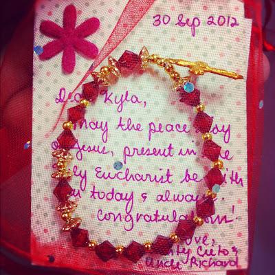 Red Rosary Bracelet