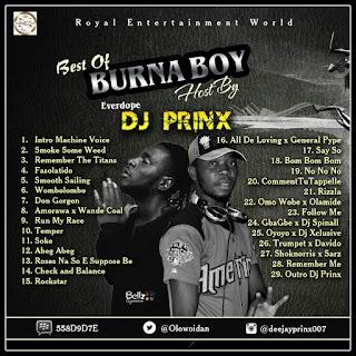 Dj Prinx - Best of BurnaBoy Mixtape