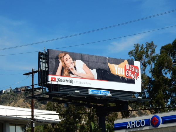 Grace Helbig YouTube billboard